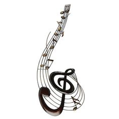 Metal Wall Art: Upright Music Notes. $54.32