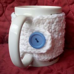 "This pattern makes a cozy for a standard 3.25"" coffee mug. Tips are included to make it larger."