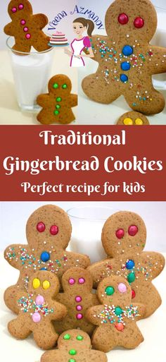 These traditional gingerbread cookies are the best treats and activity for kids especially during play dates. Watch my son in the video below. They taste absolutely delicious on their own with the warm mix of spices like ginger, cinnamon and have a beautiful color from the molasses. They make perfect goody bags for Christmas, Halloween or Easter too..!! via @Veenaazmanov