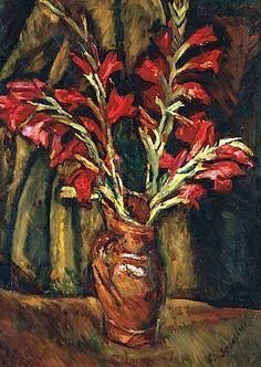 Chaim Soutine (1893-1943) Les glaïeuls rouges dans un vase