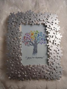DIY puzzle picture frame