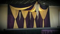 Fresno Golden Palace Banquet Hall Décor by our very own Maty's Linen  www.fresnogoldenpalace.com