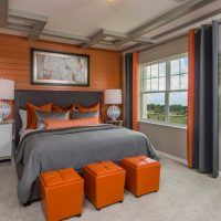 17 Sophisticated Bedroom Designs With Addition Of Orange Color. look @ ceiling detail Traditional Interior, Traditional Bedroom, Dream Master Bedroom, Sophisticated Bedroom, Style Japonais, Bedroom Orange, Small Bedroom Designs, Color Naranja, Minimalist Bedroom