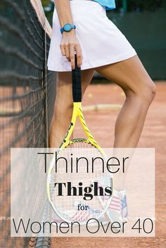 Easy, simple steps to thinner thighs for women over 40. Work these and see results in time for shorts!  | Posted By: CustomWeightLossProgram.com