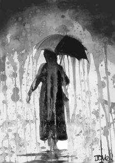 "Saatchi Art Artist LOUI JOVER; Drawing, ""rain"" #art"