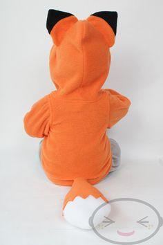 BABY & TODDLER Fox Hoodie Costume Vest Jacket by lemonbrat on Etsy