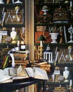 ali mode: Trompe L'oeil Still life - brunschweig & fils Fornasetti Wallpaper, Piero Fornasetti, Contemporary Design, Modern Design, Best Interior, Vignettes, Home Goods, Interior Decorating, Table Decorations
