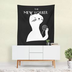 Mew Yorker Tapestry - 60x80 / With Grommets