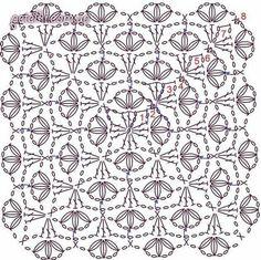 Transcendent Crochet a Solid Granny Square Ideas. Inconceivable Crochet a Solid Granny Square Ideas. Crochet Stitches Chart, Crochet Motif Patterns, Crochet Blocks, Granny Square Crochet Pattern, Crochet Diagram, Crochet Squares, Crochet Granny, Filet Crochet, Crochet Designs