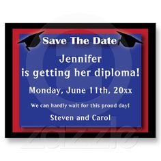 Graduation Save The Date Card Post Card