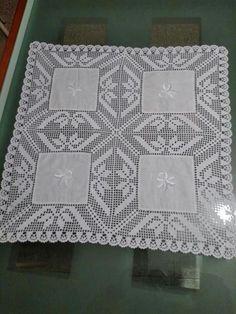 Crochet Lace Edging, Crochet Fabric, Crochet Borders, Crochet Tablecloth, Filet Crochet, Crochet Patterns, Diy Crafts Crochet, Crochet Home, Hand Crochet