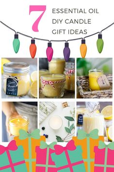 Always wondered how to make your own DIY Essential Oil Candles? Look no further than these simple homemade recipes. The varying scents of these homemade scented candles mean that you can't just pick one essential oil to use! With Holidays right around the Essential Oil Candles, Doterra Essential Oils, Luxury Candles, Diy Candles, Candle Jars, Homemade Christmas Gifts, Homemade Gifts, Diy Gifts, Homemade Scented Candles