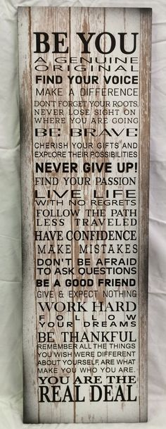 Be You Inspirational Wood Sign or Canvas Wall Hanging - Christmas, Teenager, Birthday, Graduation, Dorm Decor, Office Decor Gift