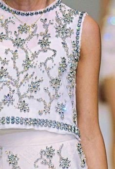 BLING BLING BLING ... No sleeve top and skirt: Dolce and Gabbana Spring 2011 RTW