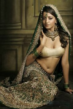 Green lehenga choli with golden and silver embellishment work - Click Image to Close Gold Lehenga, Green Lehenga, Indian Lehenga, Lehenga Choli, Anarkali, Pakistani, Indian Dresses, Indian Outfits, Drawing High Heels