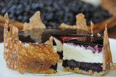 Le cheesecake aux myrtilles