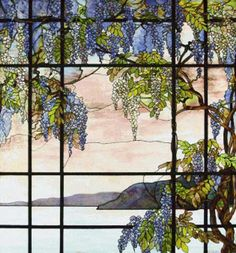 Cross stitch chart: View of Oyster Bay - Louis Comfort Tiffany