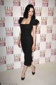 Zip yourself into a Galaxy dress by Roland Mouret and it would give curves to the woman who had none, while creating an almost cartoonishly sexy silhouette on those who did (pictured Dita Von Teese)