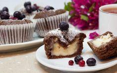 Кексы с творожной начинкой
