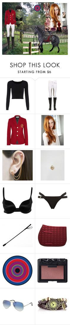 """A.J. riding through her estate for Target Practice when she sees Elijah, the other Tri-Wizard Champions, Karkaroff, Madame Máxime, Professors Dumbledore, McGonagall, and Snape waiting for her."" by andyarana ❤ liked on Polyvore featuring Dainese, Yves Saint Laurent, Embers Gemstone Jewellery, Kingsley Ryan, Wolford, Hervé Léger, DOMESTIC, NARS Cosmetics and Ray-Ban"