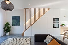 This exceptional group of four newly-built houses can be found in a quiet, tucked away location in sought-after East Dulwich. Designed by the award-winning practice Foster Lomas and constructed to impressively high standards using Scandinavian building systems (level 4 of the Code for Sustainable Homes), they are a rare example of an architect-led, new-build development in […] Staircase Storage, Stair Storage, Modern Staircase, Staircase Design, Spiral Staircases, Interior Stairs, Interior Design Living Room, Interior Architecture, Victorian Terrace
