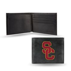 Ncaa - Men's Southern California Trojans Embroidered Billfold Wallet, Grey