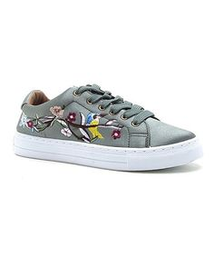 Look what I found on #zulily! Gray Floral Reba Sneaker #zulilyfinds