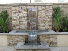 Photos for Urban Forest Landscape & Construction - Yelp Stone Water Features, Outdoor Water Features, Water Features In The Garden, Garden Pond Design, Backyard Pool Designs, Small Backyard Landscaping, Outdoor Wall Fountains, Water Fountains, Water Wall Fountain