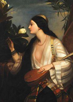 Folk Costume, Costumes, 19th Century, Mona Lisa, Princess Zelda, Artwork, Painting, Fictional Characters, Greece