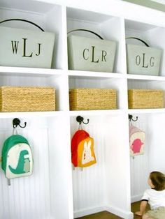 cute for a easy DIY mud room... wonder where i could make this happen in our house.