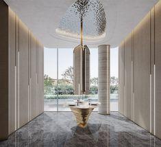 售楼部合集|空间|室内设计|广州大敏一麻将团 - 原创作品 - 站酷 (ZCOOL) Interior Walls, Home Interior Design, Washroom Design, Hotel Interiors, Luxurious Bedrooms, Door Design, Basin, Sales Center, Dining Table
