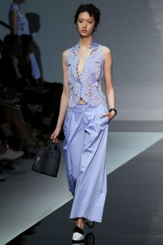 Emporio Armani Spring 2014 Ready-to-Wear Collection Milan Slideshow on Style.com
