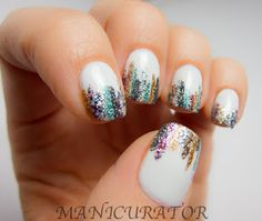 manicurator: April Showers Bring May Flowers - Glitter Tips