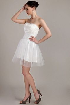 Cheap Homecoming Dresses, Cheap Wedding Dress, Wedding Dresses, Graduation Dresses, Silhouette, Cheap Cocktail Dresses, White Tulle, Ball Gowns, Strapless Dress