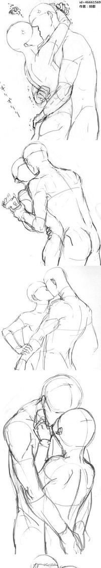 #SAI资源库#KISS动漫人像绘画动作...@爬回来累成狗采集到教程(1515图)_花瓣插画/漫画