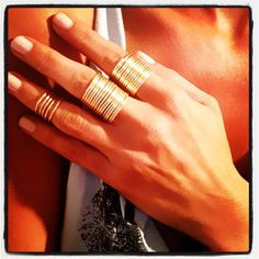 Hand Made In America FREE SHIPPING! (US)  Finger Love  Gold Filled Wire Tight Wrap Mid Finger Ring. $ 10.00 from this purchase will go to the cause of your choice