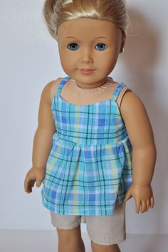 American Girl 18 Inch Doll Clothes Top and by littleashleighs, $9.00
