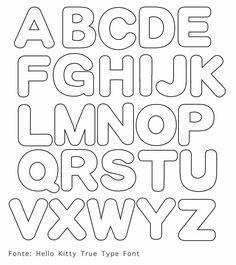 Resultado de imagem para molde de alfabeto em feltro