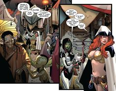 Angela and Gamora (Guardians of the Galaxy #11.NOW, 2014) Art by Sara Pichelli & Justin Ponsor