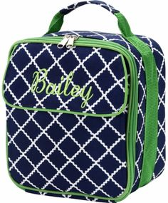 Navy Academy Monogram Lunch Bag