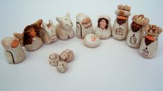 Simple clay nativity- maybe make out of sculpy- baked- keep simple so kids can play w it w/out worry if something breaks. Maybe make with older kids/younger teens.