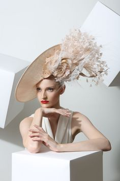 9ae1562d2d9 Philip Treacy Spring-Summer 2015 OC-930 ( ) Fascinator Hats
