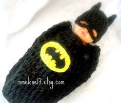 ON SALE 15 off BATMAN Baby handmade crochet Set Hat by NattyHatty, $38.24
