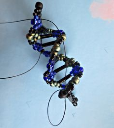 DNA earrings, bugles and miyuki beads, NotI enzyme restriction site sequence  5'-GC*GGCCGC-3'