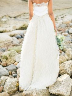 Dreamy dress: http://www.stylemepretty.com/little-black-book-blog/2015/01/23/coastal-united-kingdom-wedding-inspiration/ | Photography: Belle & Beau - http://belleandbeaublog.com/