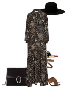 """maxi dresses..."" by julia-cccix ❤ liked on Polyvore featuring Gucci, Off-White and Chloé"