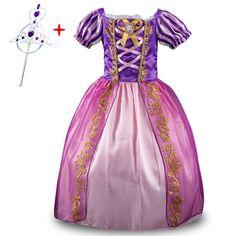 1Pcs+Free Crown 3-10T Baby Girls Dresses Baby Girls Party Dress,Cosplay Princess dress Kids Summer Wedding Dress #Affiliate