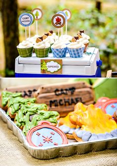Cookies | Boys Camping Birthday {Party in the Woods!} | via Hostess with the Mostess