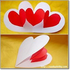heart pop up Valentine's Day Gift Baskets – Valentine's Day Tips Mothers Day Crafts, Valentine Day Crafts, Holiday Crafts, Valentine Heart, Easy Crafts, Diy And Crafts, Crafts For Kids, Paper Crafts, Valentines Bricolage
