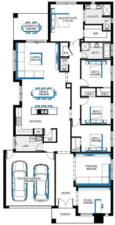Browse the various home designs and house plans on offer by Carlisle Homes across Melbourne and Victoria. Find great house plans and home designs for your needs. Narrow Lot House Plans, My House Plans, House Layout Plans, Family House Plans, Modern House Plans, House Layouts, House Floor Plans, The Plan, How To Plan